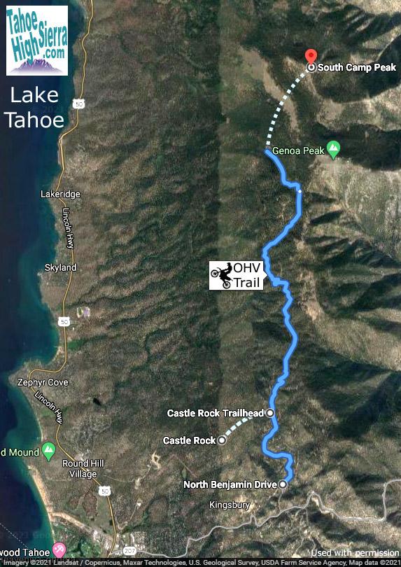 Castle Rock OHV Trail at Tahoe